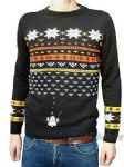 Snow Invaders - Retro Arcade Games Console Christmas Jumper (Navy Blue)
